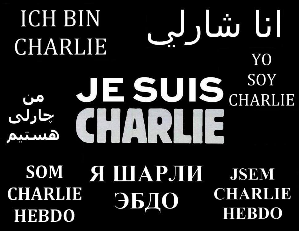 Je suuis Charlie - plural