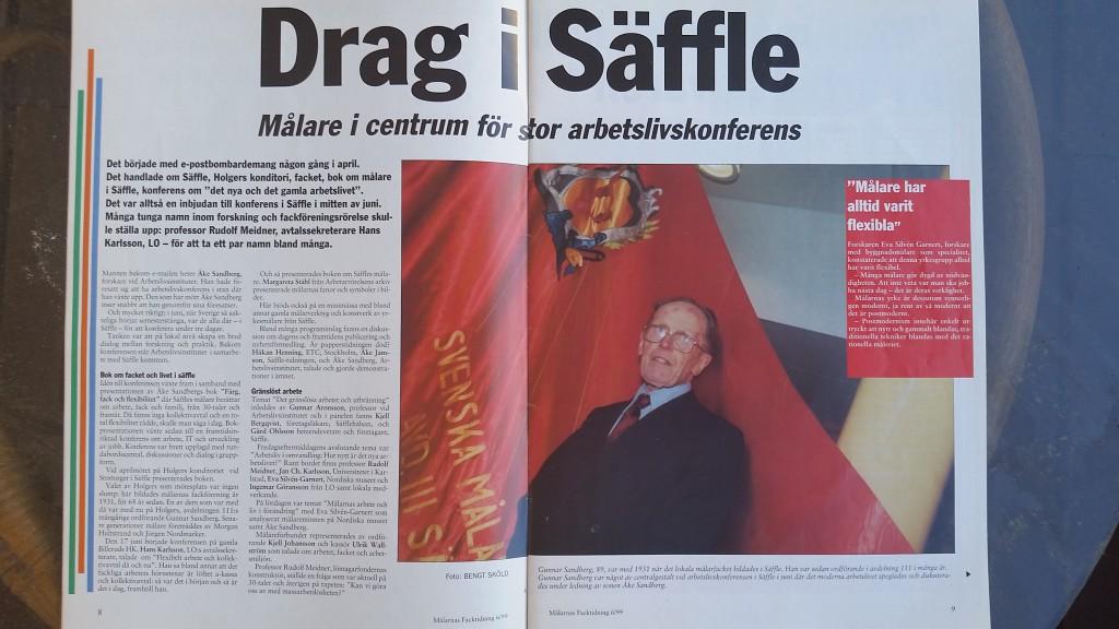 Säffle konferens 1999 Målarnas facktidning Drag i Säffle